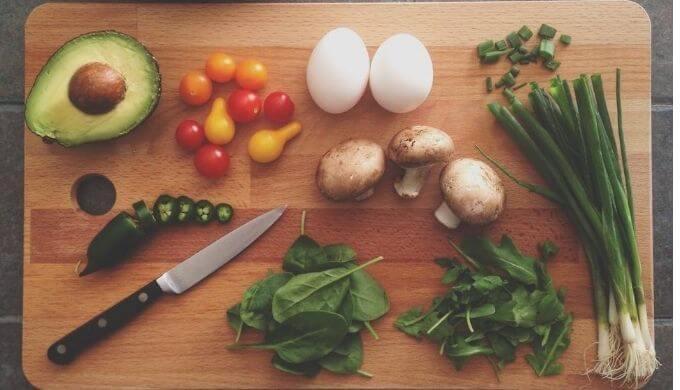 料理中の様子1